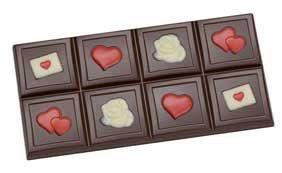 Tafel-Schokoladeform Valentinstag