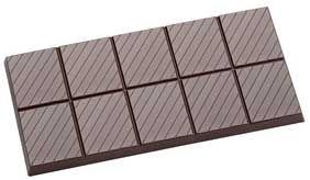 Tafel-Schokoladenform mit Streifen