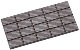 Tafel-Schokoladenform flach