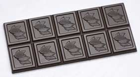 Tafel-Schokoladenform mit Kakaoschote