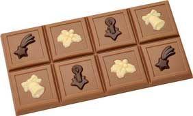 Tafel-Schokoladenform Weihnachten