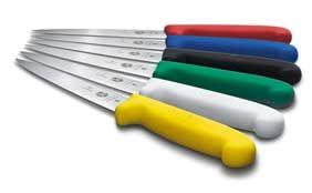 Küchenmesser, Kunststoffgriff farbig