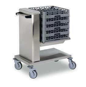Geschirrkorbstapelwagen mit Niveauregulierung