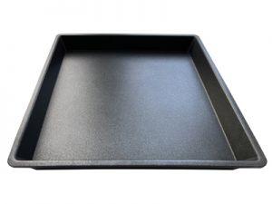 Crisp-Platte eckig mit glattem Boden